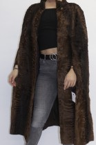 Fur coat Cape Swakara Persian brown