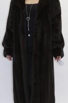 Fur coat - coat - mink brown omitted