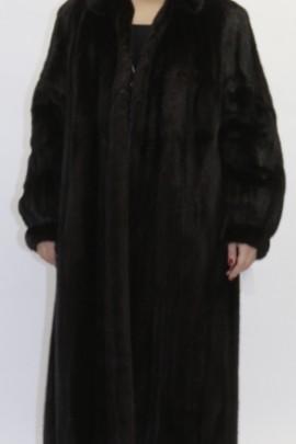 Pelz Fell  - Mantel   Nerz braun ausgelassen