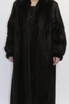 Fur fur coat mink brown omitted