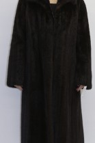 Fur coat mink brown omitted