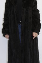 Fur - fur coat mink black with leather