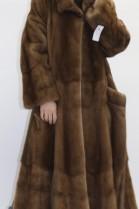 Fur - fur coat mink beige put on