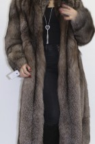 Fur coat bluefrost brown