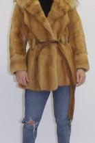 Fur fur jacket weasel nature