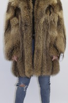 Fur jacket Finnraccoon nature