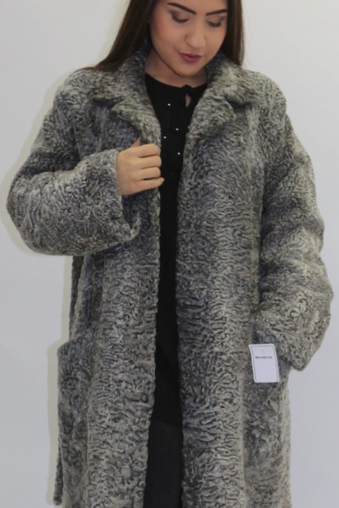 Pelz  - Fell Jacke Persianer grau