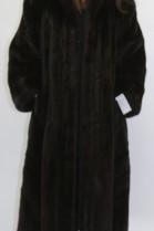 Fur - fur coat mink dark brown omitted