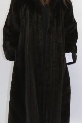 Pelz  - Fell Mantel  Nerz dunkel braun ausgelassen