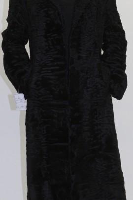 Pelz -  Fell Mantel  Swakara Persianer schwarz