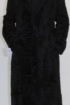 Fur coat Swakara Persian black
