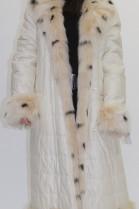 Fur coat inner lining blue fox pieces