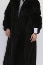 Fur - fur coat mink black