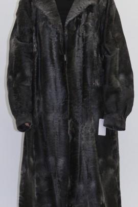 Pelz - Fell Mantel Pelzmantel grau Flach wie Breitschwanz