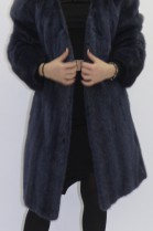 Pelz  Fell Jacke Nerz blau ausgelassen