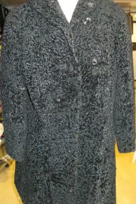 Pelz Fell Mantel  Persianer schwarz zum Basteln