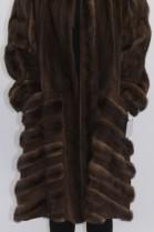 Pelz - Fell Mantel Nerz braun mit Leder