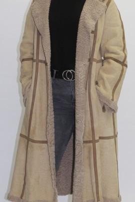 Pelz - Fell Mantel Gewachsener Persianer beige