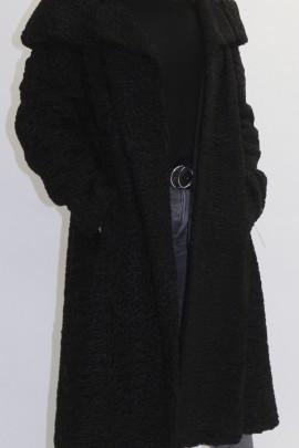 Pelz - Fell Mantel Persianer schwarz
