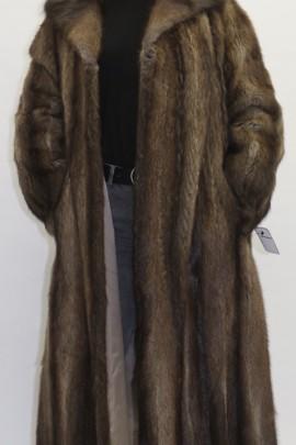 Pelz Fell   Mantel  Bisam ausgelassen