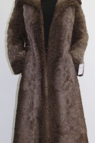 Pelz Fell   Mantel  Indisch Lamm beige