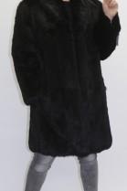 Pelz - Fell   Jacke  Kanin schwarz