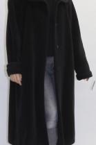 Lamma Haar Mantel schwarz