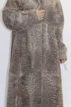 Pelz Fell   Mantel Gewachsenes Lamm beige