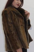 Fur jacket sheared weasel