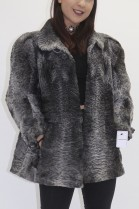 Fur fur jacket Persian gray swakara