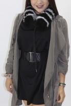 Fur - fur stripes blue fox black and white
