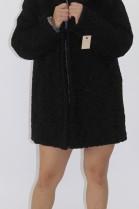 Fur jacket Persian black with Finnraccoon