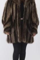 Fur fur jacket raccoon nature