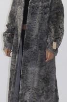 Fur coat Swakara Persian gray