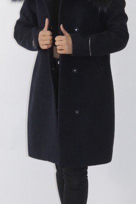 Pelz Fell Kragen Silberfuchs   mit Stoff  Jacke