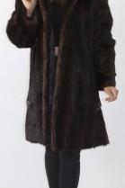 Fur fur jacket marble brown