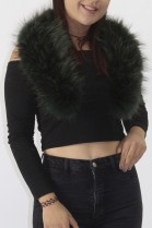 Fur collar Finnraccoon green