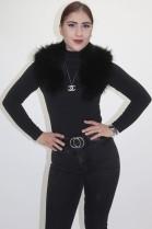 Fur collar Finnraccoon black