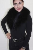 Pelz -Fell  Kragen Finnraccoon schwarz