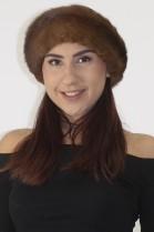 Fur-fur hat cap cap mink brown