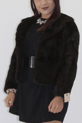 Fur fur jacket mink brown