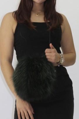 Fur - fur - pouch blue fox green