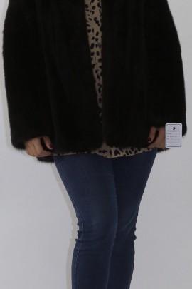Fur fur jacket mink dark brown