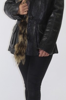 Fur jacket Grown lamb finraccoon trim