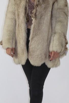 Fur jacket blue fox nature