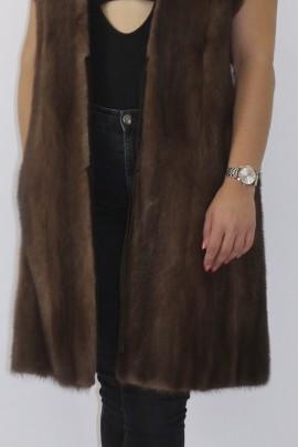 Fur fur vest mink beige