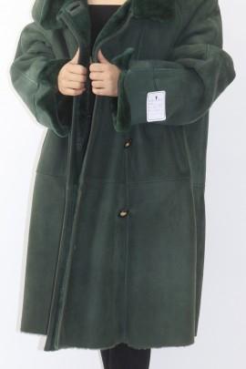 Fur fur jacket grown lamb green