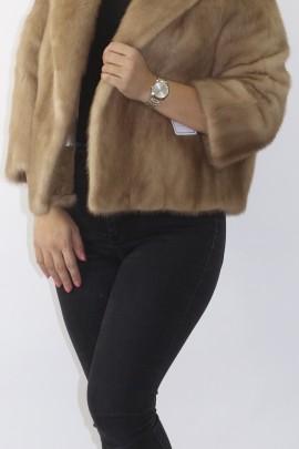 Fur fur mink jacket pastel
