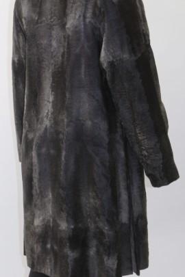 Fur jacket wide tail Persian gray