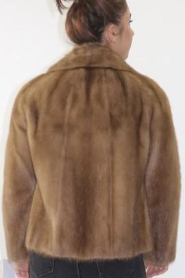 Fur fur jacket mink pastel